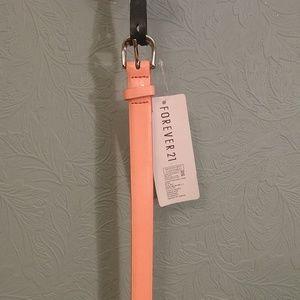 Forever 21 neon orange skinny belt